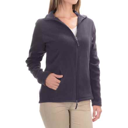 Fitted Fleece Jacket (For Women) in Navy - 2nds