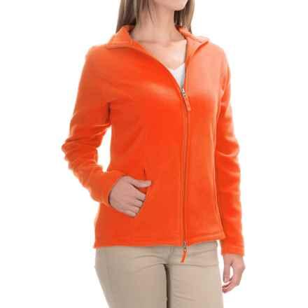 Fitted Fleece Jacket (For Women) in Orange - 2nds