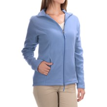 Fitted Fleece Jacket (For Women) in Sky Blue - 2nds