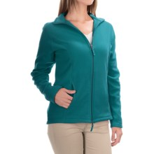 Fitted Fleece Jacket (For Women) in Teal - 2nds
