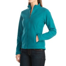 Fitted Fleece Jacket (For Women) in Turquoise - 2nds