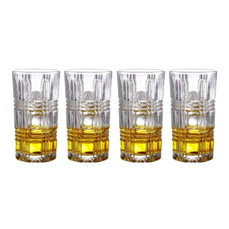 Fitz & Floyd Portland Highball Glasses - Set of 4 in Clear