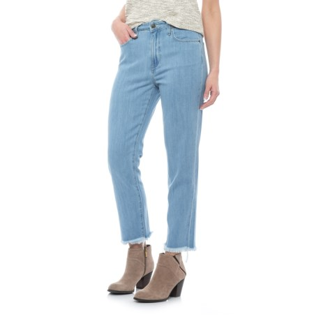 Five-Pocket Cutoff Jeans - High Rise (For Women) in Light Blue