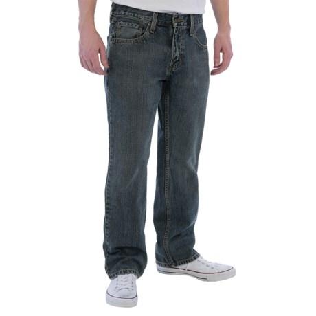 Five-Pocket Straight Jeans (For Men)
