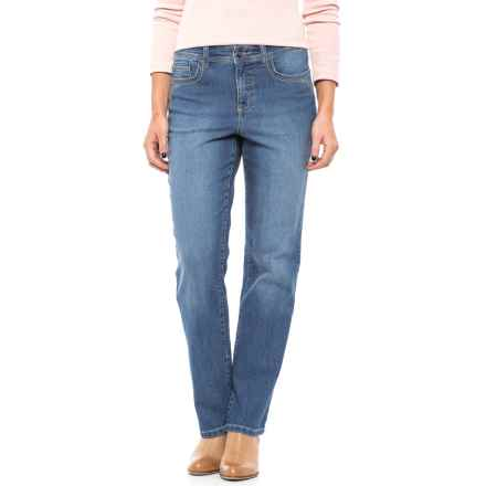 Five-Pocket Straight-Leg Jeans (For Women) in Light Denim - 2nds