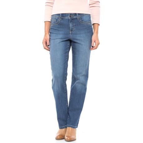 Five-Pocket Straight-Leg Jeans (For Women)