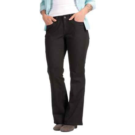 Five-Pocket Stretch Bootcut Jeans (For Women) in Black - 2nds