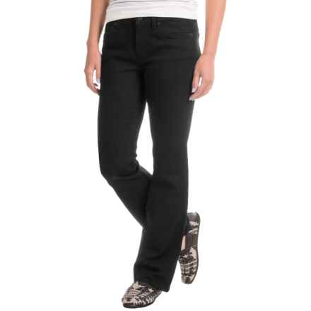 Five-Pocket Stretch Denim Bootcut Jeans (For Women) in Black - Closeouts