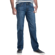 Five-Pocket Stretch Denim Jeans - Straight Leg (For Men) in Blue Heather - Closeouts