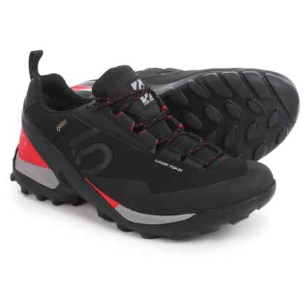 Five Ten Camp Four Gore-Tex® Hiking Shoes - Waterproof (For Men) in Black/Red - Closeouts