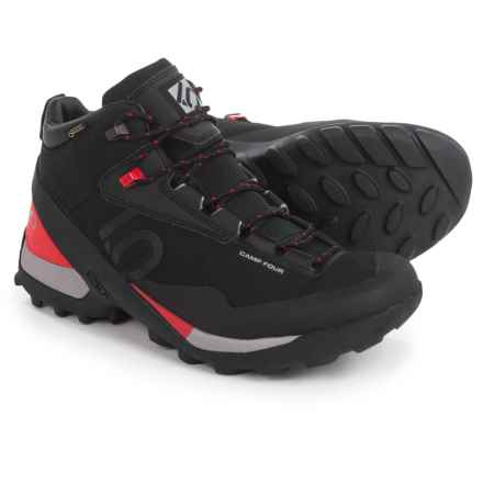 Five Ten Camp Four Gore-Tex® Mid Hiking Boots - Waterproof (For Men) in Black/Red - Closeouts