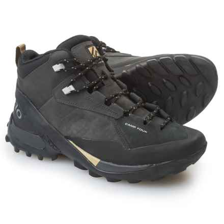 Five Ten Camp Four Mid Hiking Boots - Nubuck (For Men) in Black/Solid Grey - Closeouts