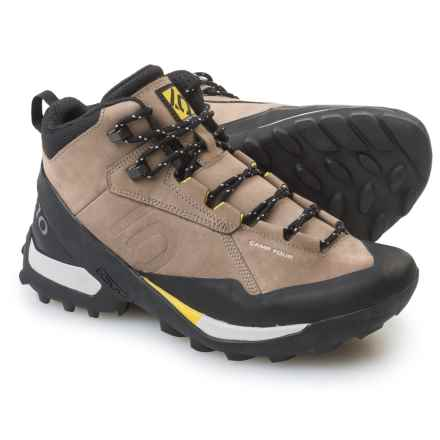 Five Ten Camp Four Mid Hiking Boots - Nubuck (For Men) in Brown/Yellow - Closeouts