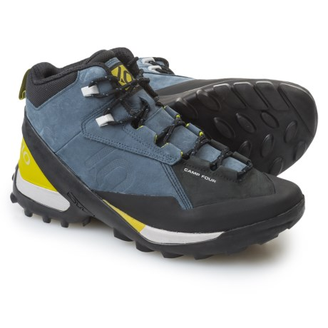 Five Ten Camp Four Mid Hiking Boots - Nubuck (For Men) in Marine/Citron