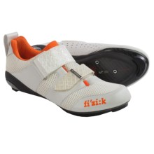 Fizik K1 Donna Triathalon Cycling Shoes - 3-Hole (For Women) in White/Violet/Orange - Closeouts