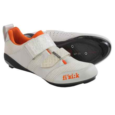 Fizik K1 Donna Triathlon Cycling Shoes - 3-Hole (For Women) in White/Violet/Orange - Closeouts