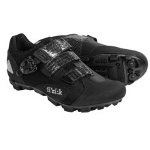 Fizik M1 Uomo Mountain Bike Shoes - SPD, Leather (For Men) in Black/Black Mesh - Closeouts