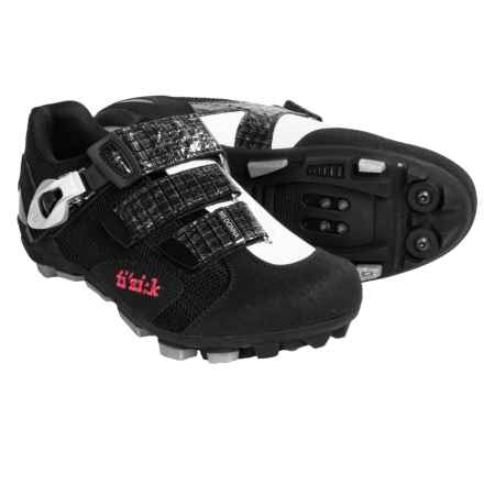 Fizik M5 Donna Mountain Bike Shoes - SPD (For Women) in Black/White - Closeouts