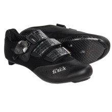 Fizik R1 Uomo Road Cycling Shoes - Leather, 3-Hole (For Men) in Black/Black Mesh - Closeouts