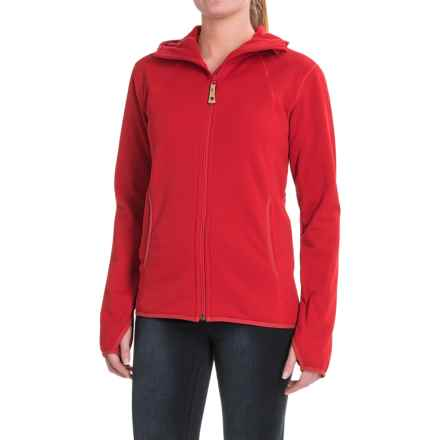 Fjallraven Abisko Fleece Hoodie - Full Zip (For Women) in Red - Closeouts