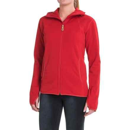 Fjallraven Abisko Fleece Hoodie - Full Zip (For Women) in Red - Closeouts