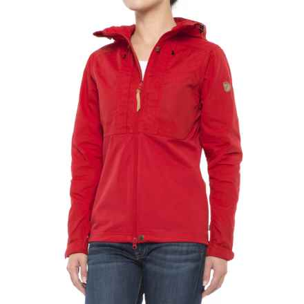 Fjallraven Abisko Lite Jacket - UPF 50+ (For Women) in Red - Closeouts