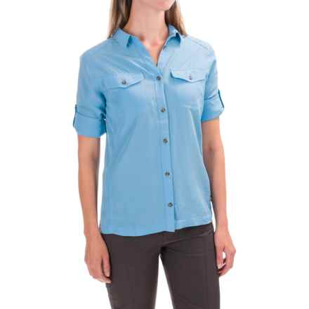 Fjallraven Abisko Vent Shirt - Long Sleeve (For Women) in Bluebird - Closeouts