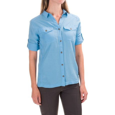 Fjallraven Abisko Vent Shirt - Long Sleeve (For Women) in Bluebird