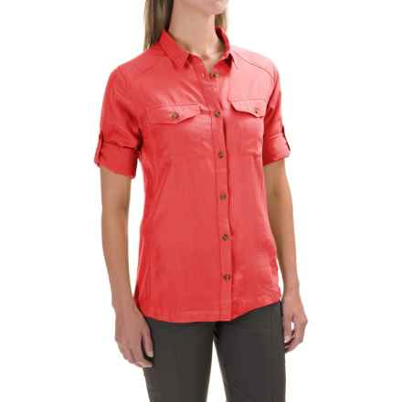 Fjallraven Abisko Vent Shirt - Long Sleeve (For Women) in Red - Closeouts