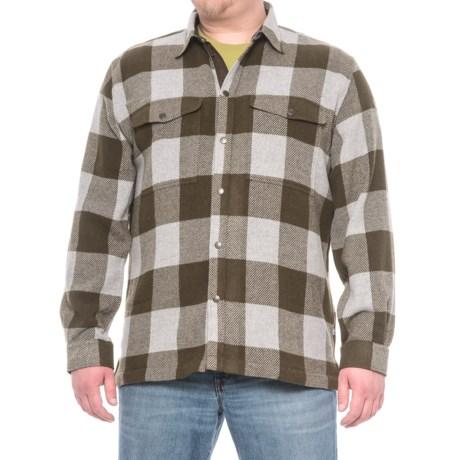 Fjallraven Canada Shirt - Snap Front, Long Sleeve (For Men) in Dark Olive