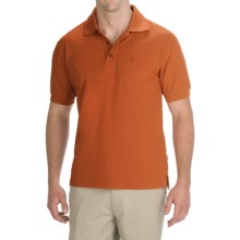 Fjallraven Crowley Pique Polo Shirt - Short Sleeve (For Men) in Pumpkin - Closeouts