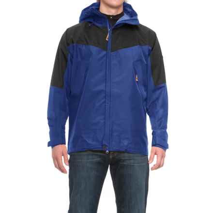Fjallraven Eco-Trail Jacket - Waterproof, Recycled Materials (For Men) in Atlantic Blue - Closeouts