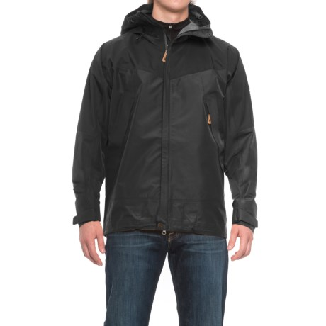 Fjallraven Eco-Trail Jacket - Waterproof, Recycled Materials (For Men) in Black