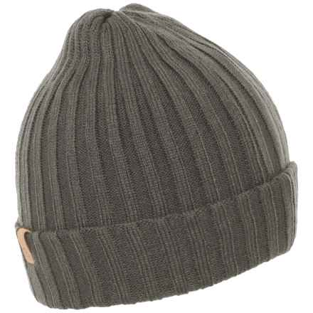 Fjallraven Folded Beanie (For Men and Women) in Mountain Grey - Closeouts