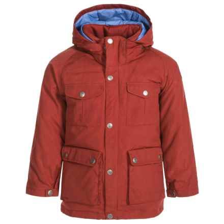 Fjallraven Greenland Down Parka - 500 Fill Power (For Little Kids) in Deep Red - Closeouts