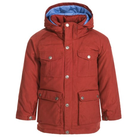 Fjallraven Greenland Down Parka - 500 Fill Power (For Little Kids) in Deep Red