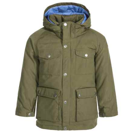 Fjallraven Greenland Down Parka - 500 Fill Power (For Little Kids) in Green - Closeouts