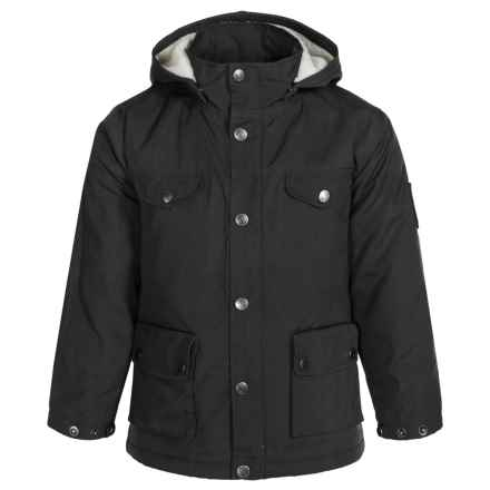 Fjallraven Greenland Jacket (For Little Kids) in Black - Closeouts