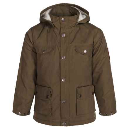 Fjallraven Greenland Jacket (For Little Kids) in Dark Olive - Closeouts