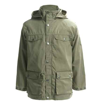 Fjallraven Greenland Jacket - UPF 50+ (For Big Kids) in Green - Closeouts
