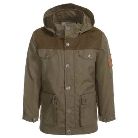 Fjallraven Greenland Jacket - UPF 50+ (For Little Kids) in Tarmac-Dk Olive - Closeouts