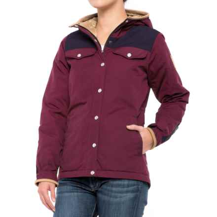 Fjallraven Greenland No.1 Down Jacket - 700 Fill Power, UPF 50+ (For Women) in Dark Garnet/Dark Navy - Closeouts