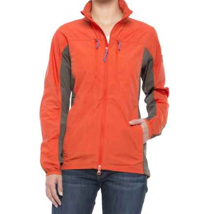 Fjallraven High Coast Hybrid Jacket (For Women) in Flame Orange - Closeouts