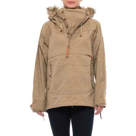 Fjallraven Iceland Anorak Jacket - UPF 50+, Zip Neck (For Women) in Sand - Closeouts