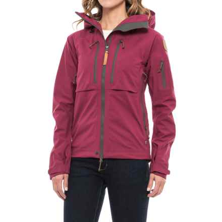 Fjallraven Keb Eco-Shell Jacket - Waterproof (For Women) in Plum - Closeouts