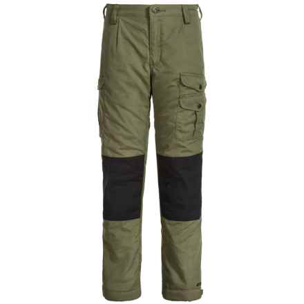 Fjallraven Kids Vidda Padded Pants (For Little and Big Boys) in Green - Closeouts
