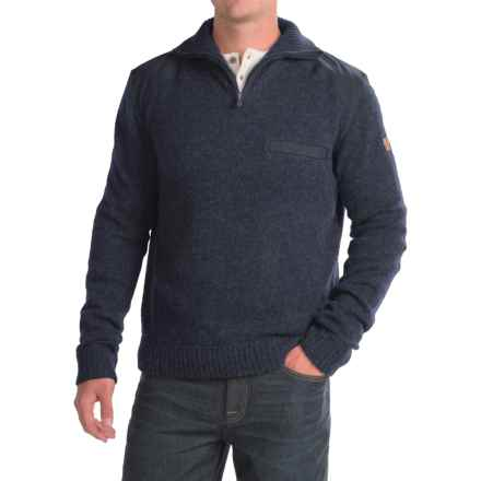 Fjallraven Koster Sweater - Zip Neck (For Men) in Dark Navy - Closeouts