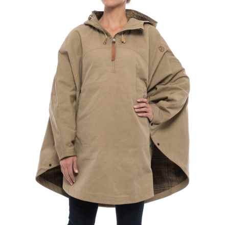 Fjallraven Luhkka No. 3 Cape - Reversible, Zip Neck (For Women) in Sand - Closeouts