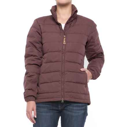 Fjallraven Ovik Lite Down Jacket (For Women) in Burnt Red - Closeouts