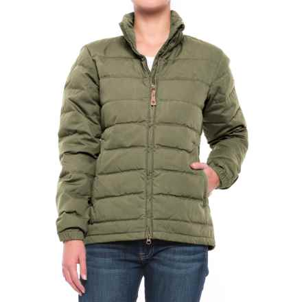 Fjallraven Ovik Lite Down Jacket (For Women) in Green - Closeouts